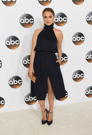 Camilla Luddington complemented her LBD with a pair of ankle-strap pumps.