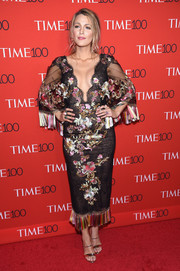 Blake Lively made an ultra-feminine statement with this fringed and floral-embroidered Marchesa dress at the 2017 Time 100 Gala.