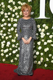 Bette Midler looked regal in a silver sequin gown by Michael Kors at the 2017 Tony Awards.