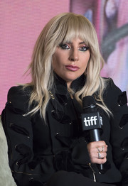 Lady Gaga attended the TIFF press conference for 'Gaga: Five Foot Two' wearing some elegant diamond rings.