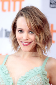 Rachel McAdams looked effortlessly chic with her wavy bob at the TIFF premiere of 'Disobedience.'