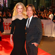 Nicole Kidman (in  Oscar de la Renta) and Keith Urban