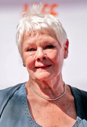 Judi Dench looked cute with her windblown pixie at the TIFF premiere of 'Victoria & Abdul.'