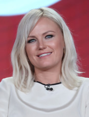 Malin Akerman looked super cool with her ice-blonde waves at the 2017 Winter TCA Tour.