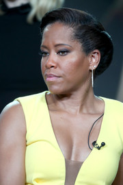 Regina King looked regal with her sculpted chignon at the 2017 Winter TCA Tour.