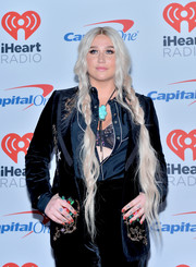 Kesha sported fairytale braids at the iHeartRadio Music Festival.
