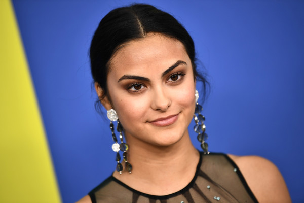 More Pics of Camila Mendes Embroidered Dress (1 of 3) - Camila Mendes Lookbook - StyleBistro [hair,face,eyebrow,hairstyle,black hair,beauty,forehead,lady,chin,cheek,arrivals,camila mendes,brooklyn museum,new york city,cfda fashion awards]