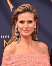Heidi Klum accessorized with an eye-catching pair of Lorraine Schwartz dangle earrings.