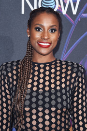 Issa Rae looked adorable wearing this multi-braid hairstyle at the 2018 DirecTV Now Super Saturday Night concert.