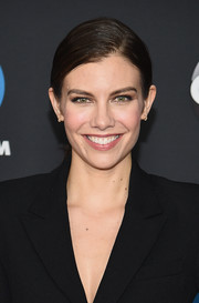 Lauren Cohan sported a slick ponytail at the 2018 Disney, ABC, and Freeform Upfront.