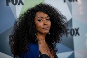 Angela Bassett looked gorgeous wearing her natural curls at the 2018 Fox Network Upfront.