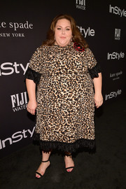 Chrissy Metz looked sassy in a leopard-print blouse by Eloquii at the 2018 InStyle Awards.