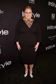 Rebel Wilson kept it classy in a Givenchy LBD with a lace neckline at the 2018 InStyle Awards.