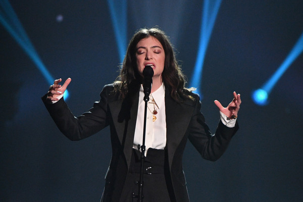 More Pics of Lorde Pantsuit (1 of 15) - Suits Lookbook - StyleBistro [musicares person of the year,performance,music artist,entertainment,singing,performing arts,event,talent show,singer,song,stage,singer lorde,new york city,radio city music hall,fleetwood mac,show]