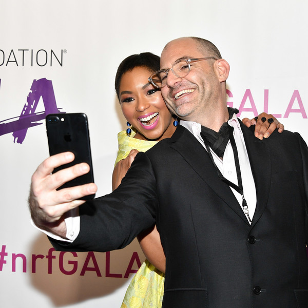 More Pics of Alicia Quarles Pixie (1 of 7) - Alicia Quarles Lookbook - StyleBistro [selfie,photography,gadget,formal wear,technology,electronic device,suit,event,white-collar worker,smile,alicia quarles,jono waks,selfie,new york city,pier 60,l,national retail federation gala]