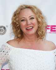 Virginia Madsen wore her hair in shoulder-length curls at the 2018 Outfest Los Angeles LGBT Film Festival.