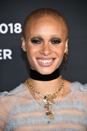Adwoah Aboah hit the 2018 Pirelli Calendar launch sporting her signature buzzcut.
