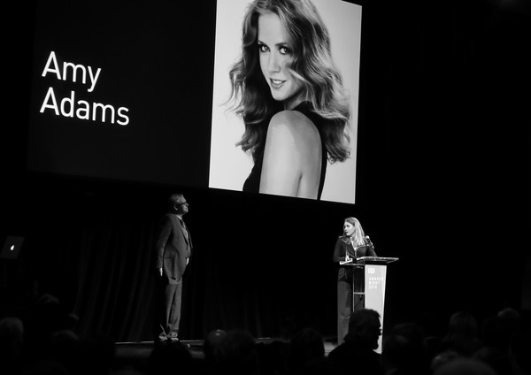 More Pics of Amy Adams Jumpsuit (2 of 20) - Suits Lookbook - StyleBistro [image,black-and-white,monochrome,fashion,photography,monochrome photography,event,font,technology,room,performance,amy adams,adam mckay,sffilm awards,color version,california,san francisco,palace of fine arts theater]