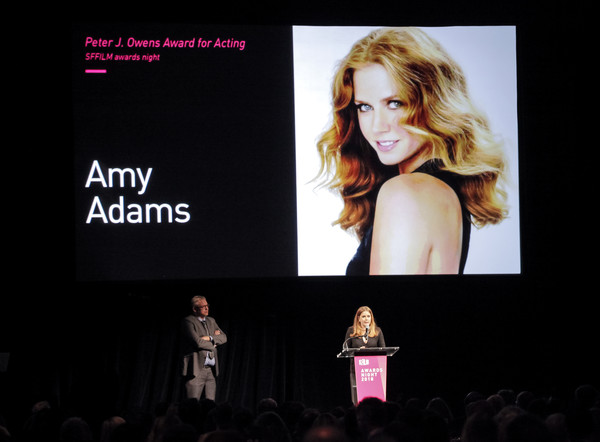 More Pics of Amy Adams Long Center Part (1 of 20) - Long Hairstyles Lookbook - StyleBistro