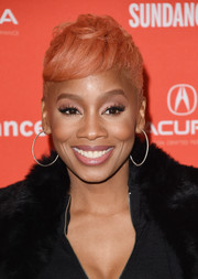 Anika Noni Rose sported a pixie with close-cropped sides at the Sundance premiere of 'Assassination Nation.'
