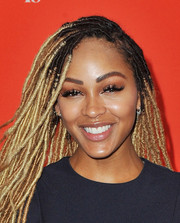 Meagan Good's ultra-long false lashes were impossible to miss!