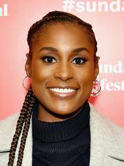 Issa Rae rocked long cornrows at the Power of Story panel during Sundance.