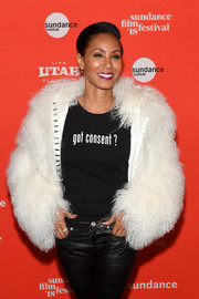 Jada Pinkett Smith made a relevant statement with her 'got consent?' tee at the Sundance premiere of 'Skate Kitchen.'