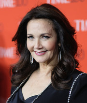 Lynda Carter looked ladylike with her curly 'do at the 2018 Time 100 Gala.