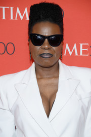 Leslie Jones looked funky with her flat-top at the 2018 Time 100 Gala.