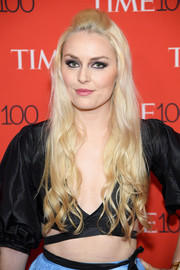 Lindsey Vonn looked charming wearing this half-up style with wavy ends at the 2018 Time 100 Gala.