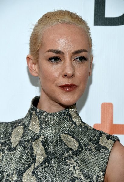 Jena Malone wore her hair in a simple bun at the TIFF premiere of 'The Public.'