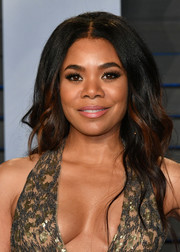 Regina Hall sported high-volume boho waves at the 2018 Vanity Fair Oscar party.