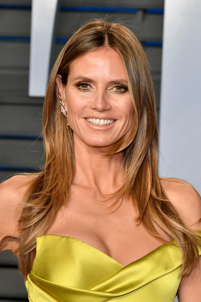 Heidi Klum S Face Framing Layers Chic Long Hairstyles