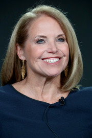 Katie Couric sported a perfectly neat shoulder-length bob at the 2018 Winter TCA Tour.