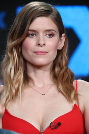 Kate Mara looked sweet with her piecey waves at the 2018 Winter TCA Tour.