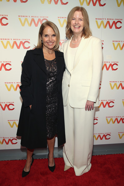 More Pics of Katie Couric Bob (1 of 4) - Short Hairstyles Lookbook - StyleBistro [carpet,red carpet,suit,event,premiere,flooring,pantsuit,outerwear,formal wear,dress,arrivals,julie burton,katie couric,womens media awards,new york city,capitale]