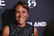 Robin Roberts sported a short side-parted hairstyle at the 2019 A+E Networks Upfront.