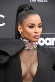 Ciara styled her hair into a sleek, high ponytail for the 2019 Billboard Music Awards.
