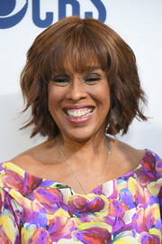 Gayle King looked stylish with her flippy bob at the 2019 CBS Upfront.