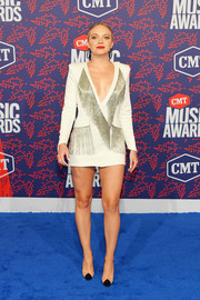 Danielle Bradbery completed her look with on-trend PVC pumps by Schutz.