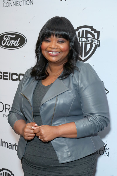 More Pics of Octavia Spencer Leather Jacket (5 of 5) - Octavia Spencer Lookbook - StyleBistro