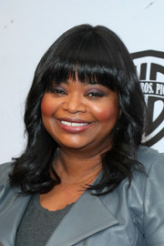 Octavia Spencer sported a wavy lob with rounded bangs at the 2019 Essence Black Women in Hollywood Awards.