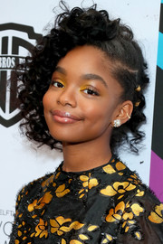 Marsai Martin looked cute with her pinned-up ringlets at the 2019 Essence Black Women in Hollywood Awards.