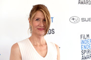 Laura Dern styled her hair into a ponytail with side-draped bangs for the 2019 Film Independent Spirit Awards.