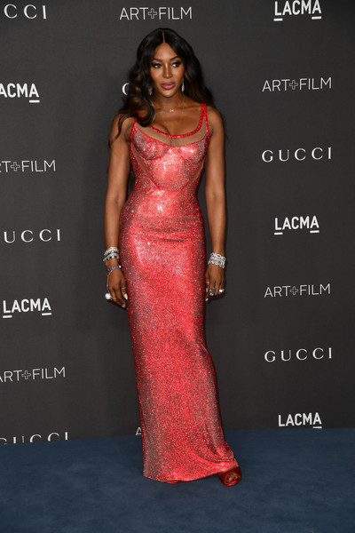 More Pics of Naomi Campbell Peep Toe Pumps (1 of 12) - Naomi Campbell Lookbook - StyleBistro [dress,clothing,fashion model,gown,shoulder,fashion,formal wear,beauty,lady,hairstyle,arrivals,naomi campbell,los angeles,california,gucci,lacma art film gala,lacma 2019 art film gala]