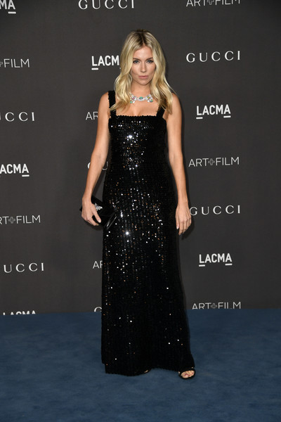 More Pics of Sienna Miller Sequin Dress (3 of 12) - Dresses & Skirts Lookbook - StyleBistro [dress,clothing,shoulder,premiere,carpet,hairstyle,gown,fashion,fashion model,little black dress,arrivals,sienna miller,los angeles,california,gucci,lacma art film gala,lacma 2019 art film gala]
