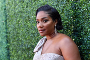 Tiffany Haddish styled her hair into a faux bob for the 2019 MTV Movie and TV Awards.
