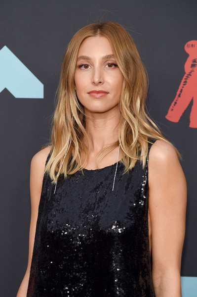 More Pics of Whitney Port Sequin Dress (4 of 4) - Whitney Port Lookbook - StyleBistro [hair,hairstyle,clothing,blond,premiere,long hair,dress,little black dress,layered hair,fashion model,arrivals,whitney port,mtv video music awards,prudential center,newark,new jersey]