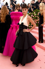 Penelope Cruz looked darling in a tiered black-and-white halter gown by Chanel Couture at the 2019 Met Gala.