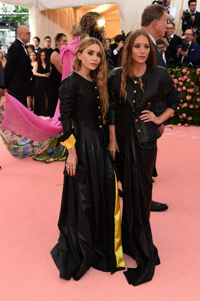 More Pics of Mary-Kate Olsen Leather Jacket (1 of 6) - Mary-Kate Olsen Lookbook - StyleBistro [red carpet,carpet,clothing,flooring,event,fashion,premiere,dress,long hair,gown,fashion - arrivals,ashley olsen,mary-kate olsen,notes,fashion,new york city,metropolitan museum of art,met gala celebrating camp]